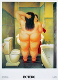 The Bath Print by Fernando Botero