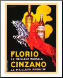 Florio e Cinzano 1930 Mounted Print by Leonetto Cappiello
