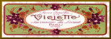 Violette (bordure dor&#233;e) Affiche mont&#233;e par Susan W. Berman