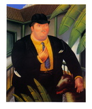 Man&#39;s Best Friend Print by Fernando Botero
