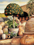 Orange Topiary Kunst af Eduardo Moreau