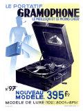 Victrola Portable Phonograph Giclee Print