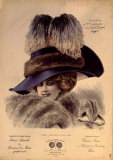 Hats from Expostion Universalle, Paris, 1900 Poster