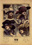 Hats from Expostion Universalle, Paris, 1900 Posters