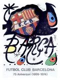 FC Barcelone - Affiche de Miro Reproduction procédé giclée par Joan Miró
