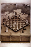 Illusion Chess Board Posters