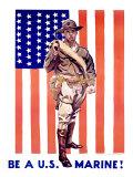 Be a US Marine Giclée-tryk