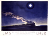 LNER, The Flying Scotsman, Night Train to Scotland Giclee Print by Norman Wilkinson