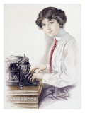 Underwood Typewriter Giclee Print