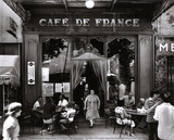 Café de France Planscher av Willy Ronis
