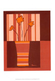 Minimalist Flowers in Orange IV Poster by Jennifer Goldberger