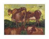 Cows, c.1890 Posters by Vincent van Gogh