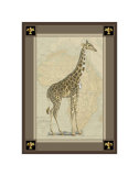 Giraffe with Border II Prints