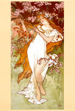 Spring Prints by Alphonse Mucha