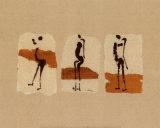 Silhouetten von Afrika Kunst von Charlotte Derain
