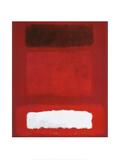 Rot, Weiß, Braun Poster von Mark Rothko