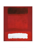 Red, White, Brown Print by Mark Rothko
