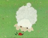 Little Lamb and Ladybug Schilderij van Coby Hol