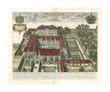 Collegium Street Trinitatis Giclee Print by  Loggan