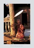 Temple Scene Burma Posters par Christophe Boisvieux