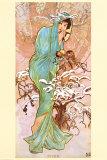 Invierno Póster por Alphonse Mucha