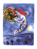La baie des Anges Prints by Marc Chagall