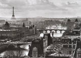 Bridges of Paris, c.1991 Plakat av Peter Turnley