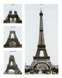 Construction of the Eiffel Tower Plakater af Boyer Viollet