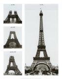 Construcción de la torre Eiffel Láminas por Boyer Viollet