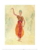 Tänzerinnen aus Kambodscha Kunstdruck von Auguste Rodin