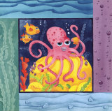 Seafriends - Octopus Láminas por Paul Brent