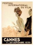 Den internasjonale filmfestivalen, Cannes, 1939 Giclée-trykk av Jean-Gabriel Domergue