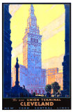 Union Terminal Cleveland, New York Central Wydruk giclee autor Leslie Ragan