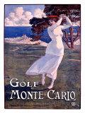 Golf de Monte-Carlo Reproduction procédé giclée