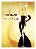 O momento Taittinger, em francês Impressão giclée