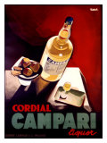 Cordial Campari Reproduction procédé giclée par Marcello Nizzoli