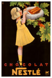Nestle Chocolat Giclee Print by Karl Bickel