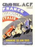 Grand Prix de l'A.C.F., 1935 Gicléedruk van Geo Ham
