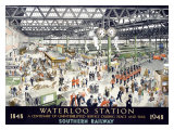 English Waterloo Railway, c.1948 Giclee Print