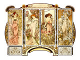 Flowers Giclee Print by Alphonse Mucha
