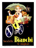 Bianchi Biciclette Giclee Print by  Mich (Michel Liebeaux)