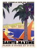 Sainte-Maxime Impression giclée par Roger Broders