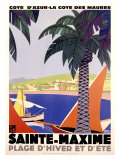 Sainte-Maxime Giclee Print by Roger Broders