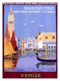 Venedig, franska Gicléetryck av Georges Dorival