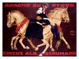 Circus Schumann, Apache Zu Pferd Giclee Print by Ludwig Hohlwein