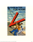 Over The Top For Victory Poster