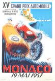 Monaco Grand Prix, 1957 Plakat af B. Minne