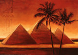 Sunset on Pyramids I Posters by Alain Satie
