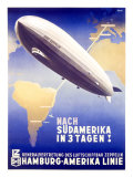 Graf Zeppelin, Hamburg to Amerika, c.1937 Impresso gicle