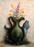 Cat & Vase III Prints by Jessica Fries